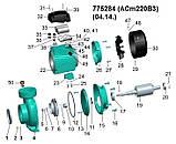 """Насос центробежный 2.2кВт Hmax 17.5м Qmax 1100л/мин 3"""" LEO 3.0 (775284), фото 2"""