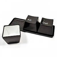 Оригинальные чашки кнопки Ctrl Alt Del (Черные)