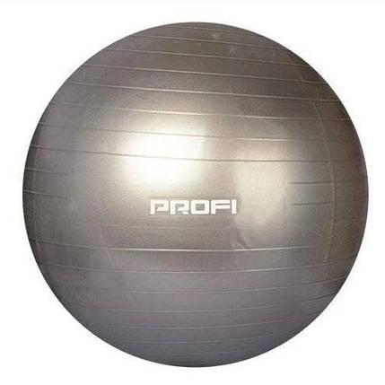Фитбол Profi Ball 55 см. Серый (M 0275 U/R-G), фото 2