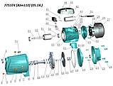 Насос центробежный самовсасывающий 1.1кВт Hmax 55м Qmax 100л/мин LEO 3.0 (775374), фото 2