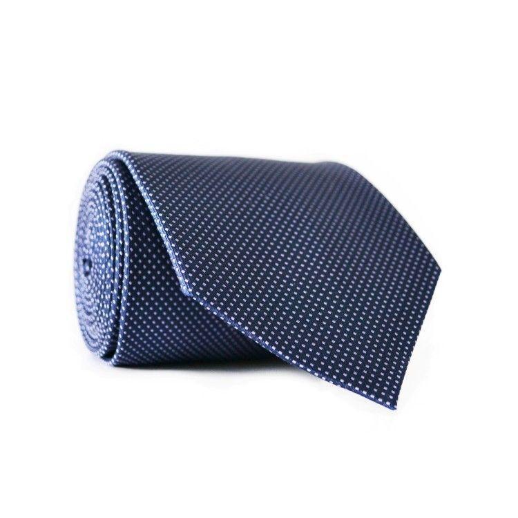 Краватка чоловіча Синя з білими крапками GIN-2078