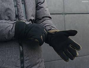 Перчатки Staff fleece black and haki size M-L, фото 3