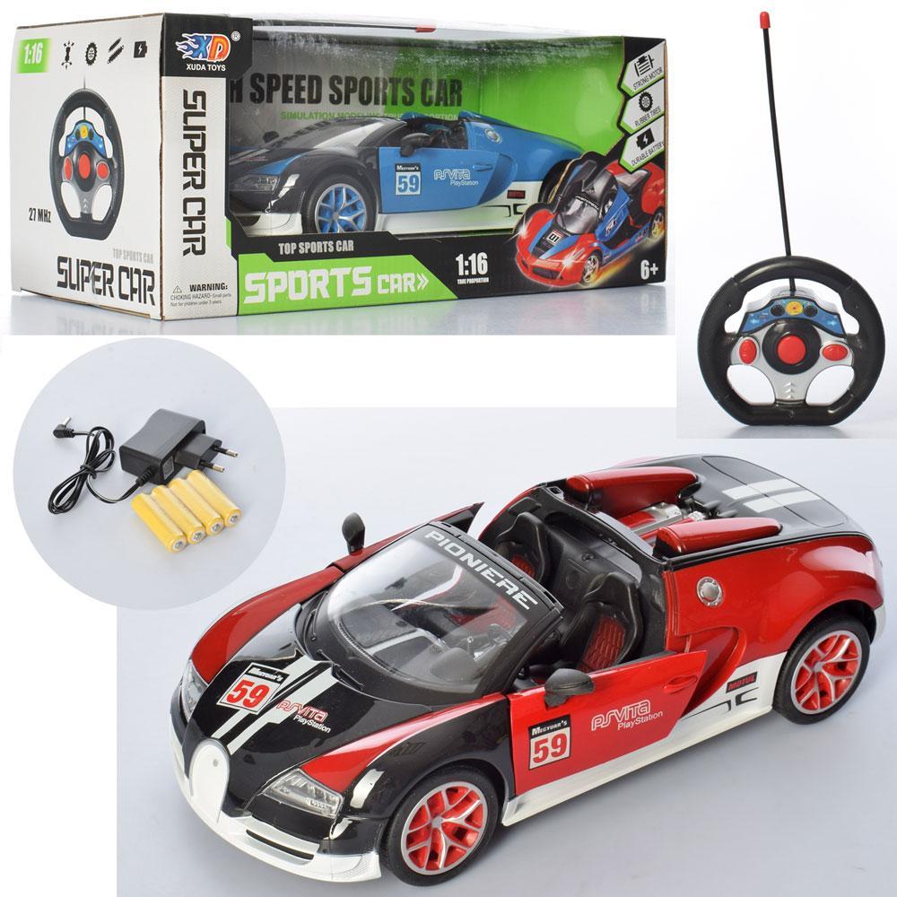 Машина 3688-S66A радіокер.,акум., 1:16, відчин.двері,гум.колеса,2кольори,світло,кор.,35-14,5-16,5см