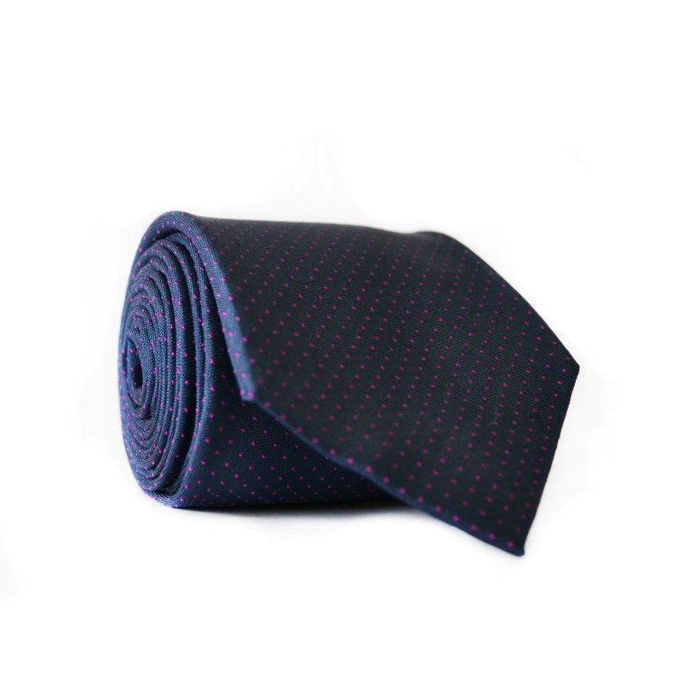 Галстук чоловічий Синій в Рожеві крапки GIN-2103