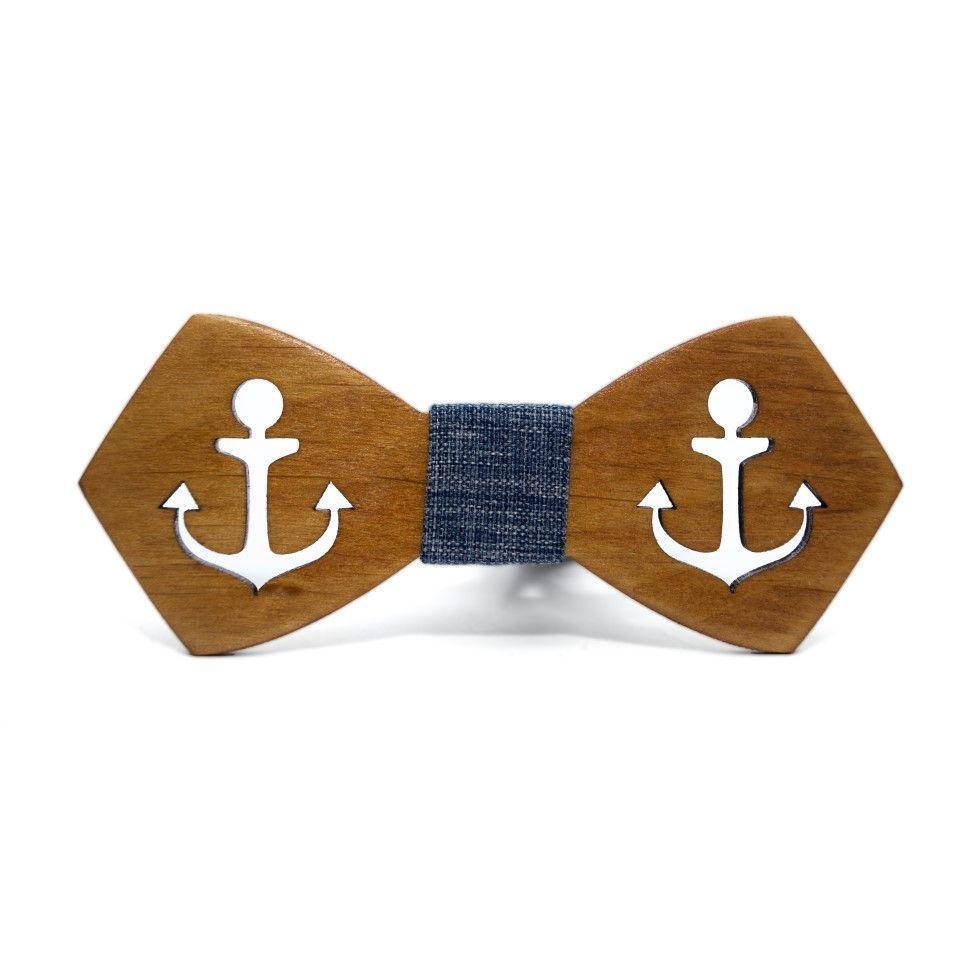 Дерев'яний краватка метелик Gofin з вирізом якір GBDH-8148