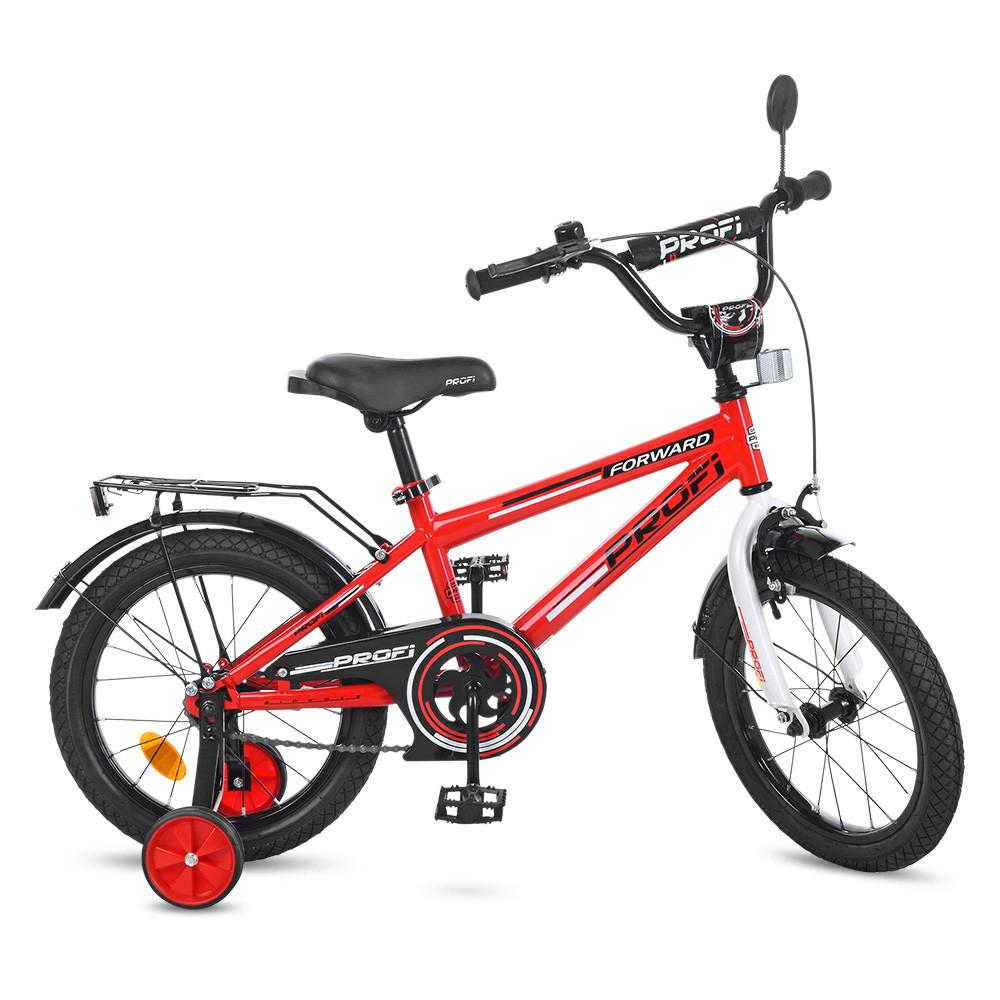 Велосипед дитячий PROF1 16д. T1675 дзвінок, дод. колеса, червоний.