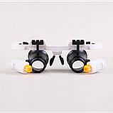 Бинокулярные очки с LED подсветкой 9892RD Увеличение: 6x/10x/25x, фото 2