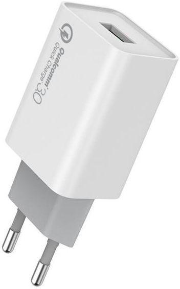 Мережевий зарядний пристрій з підтримкою Quick Charge 3.0 ColorWay 1USBx3A White (CW-CHS013Q-WT)
