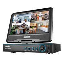 4-х канальный цифровой видеорегистратор с монитором 10 дюймов 4CH