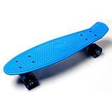 Скейт Penny Board, с широкими светящимися колесами Пенни борд, пенниборд детский , от 4 лет, синий, фото 4