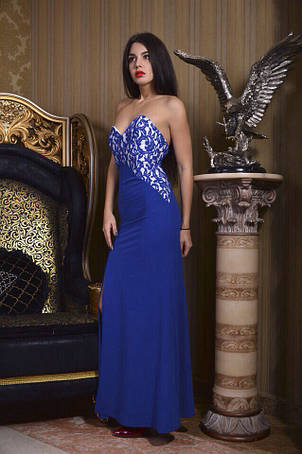Вечернее платье голые плечи с разрезом , фото 2