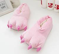 Домашние тапочки кигуруми Лапы Розовый, фото 1
