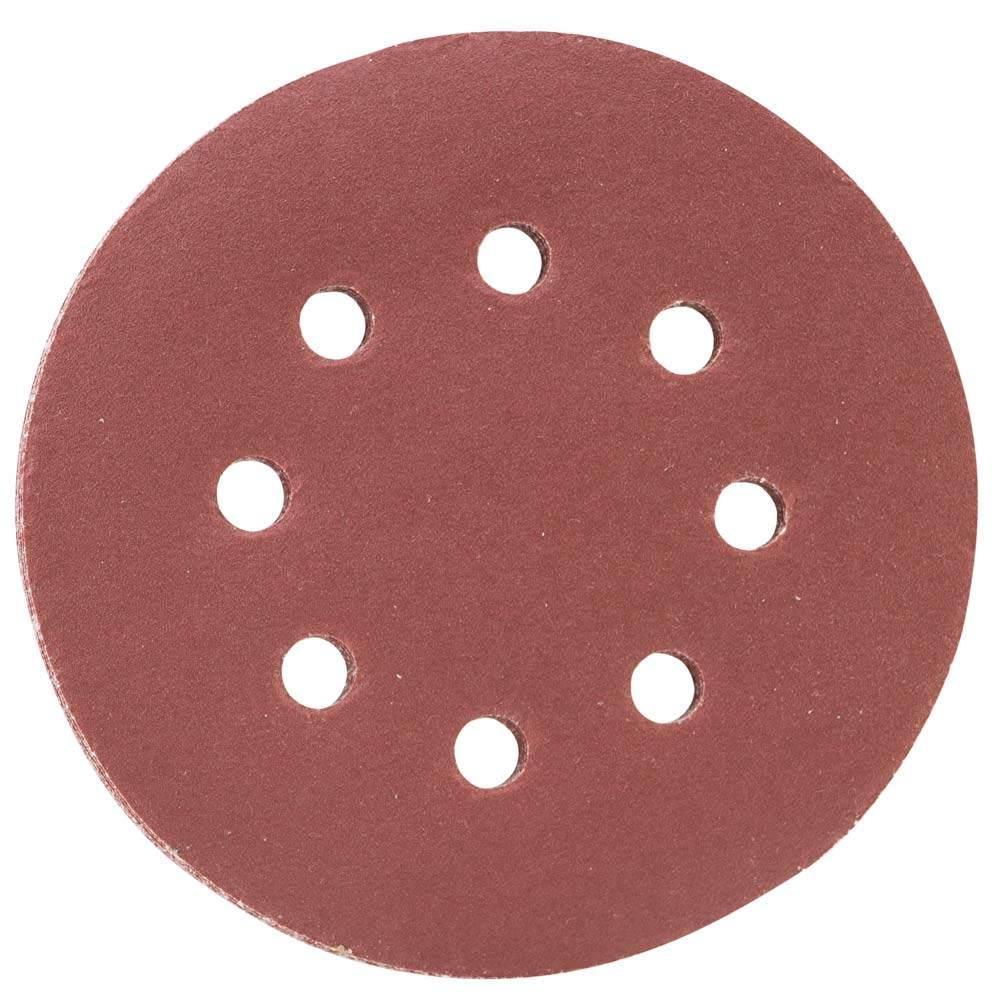 Шлифовальный круг 8 отверстий Ø125мм P320 (10шт) SIGMA (9122731)