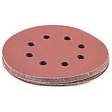 Шлифовальный круг 8 отверстий Ø125мм P320 (10шт) SIGMA (9122731), фото 3