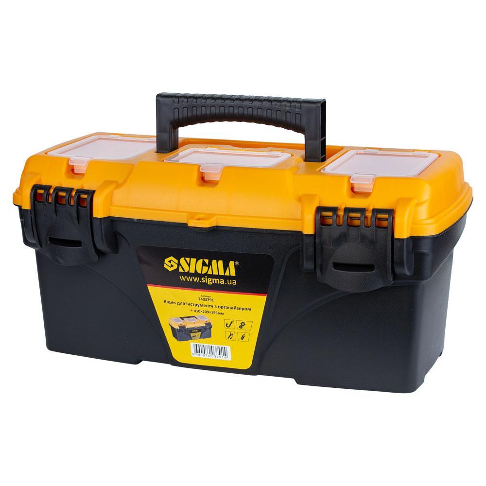 Ящик для инструмента с органайзером 410×209×195мм SIGMA (7403791)