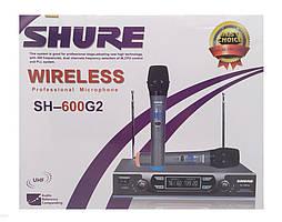Беспроводная Uhf вокальная радиосистема на два микрофона Shure SH-600G2