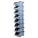 Набор лотков для метизов 8шт с креплениями (серый) SIGMA (7418291), фото 4