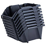 Набор лотков для метизов 8шт с креплениями (черный) SIGMA (7418371), фото 5