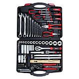 """Набір інструментів, ключів, насадок торцевих і біти 1/4"""", 1/2"""" 80шт CrV ULTRA (6001112), фото 3"""