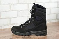Ботинки высокие тактические STIMUL Козак деми нубук черный, фото 1