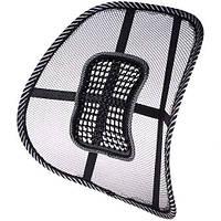 Ортопедическая спинка-подушка на кресло и авто сиденье c массажером (100)