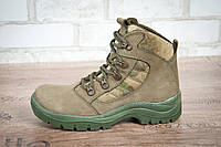 Ботинки тактические STIMUL Патриот-2 зима/деми кожа нубук олива/аттакс, фото 1