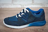 Кроссовки мужские STIMUL Мустанг синие нубук/сетка, фото 1