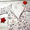 Комбинезон хлопковый двуслойный Зайчики Tongs (Турция), фото 2