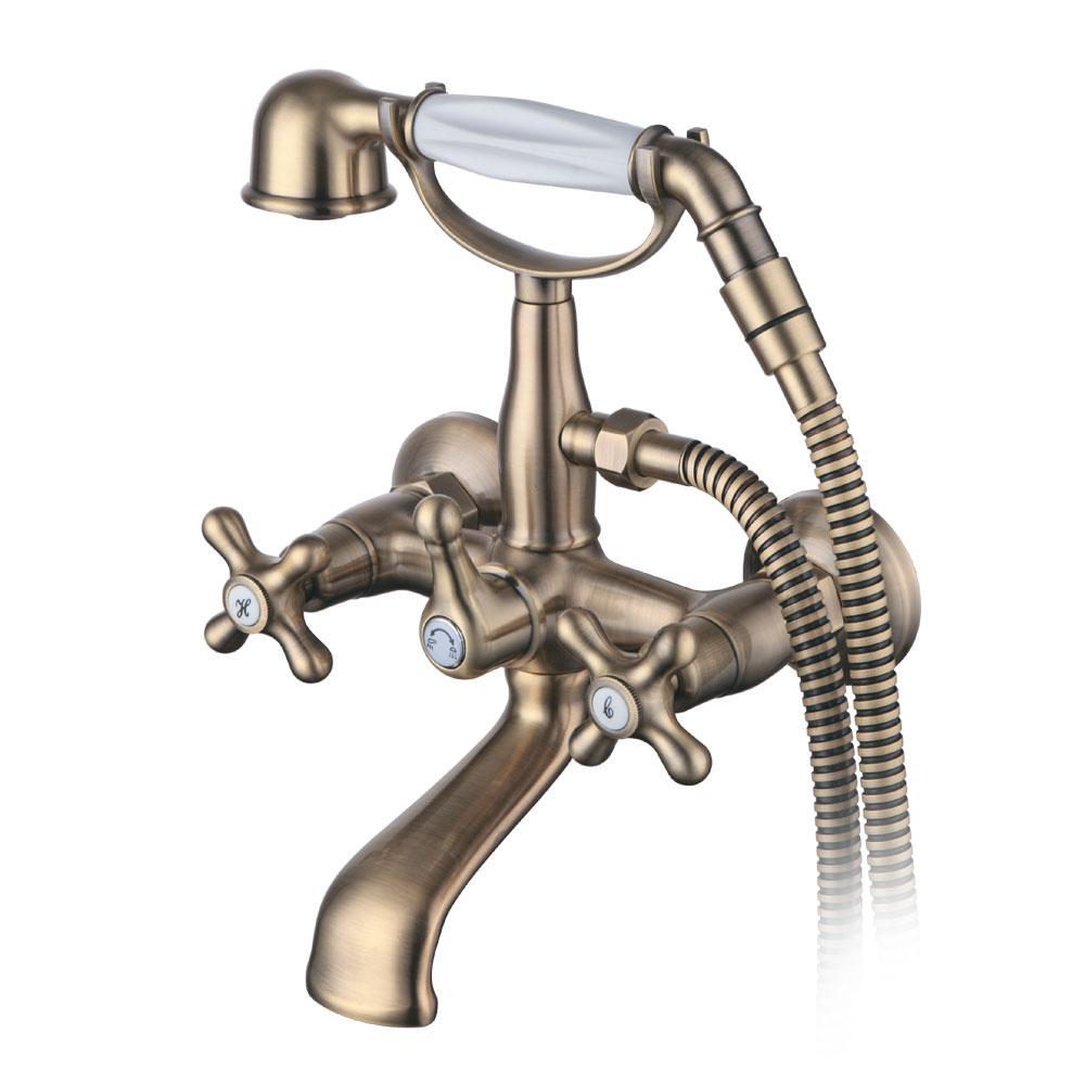 """Смеситель BRENTA 1/2"""" для ванны излив поворотный дивертор встроенный картриджный CORSO (FE-2C152K) (9679204)"""