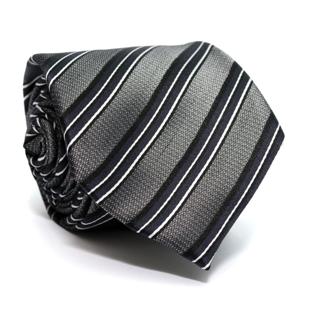 Краватка C&A чоловіча сіра в смужку CA-4057