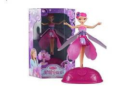 Большая летающая кукла-фея Flying Fairy с базой и зарядкой от USB детская интерактивная игрушка