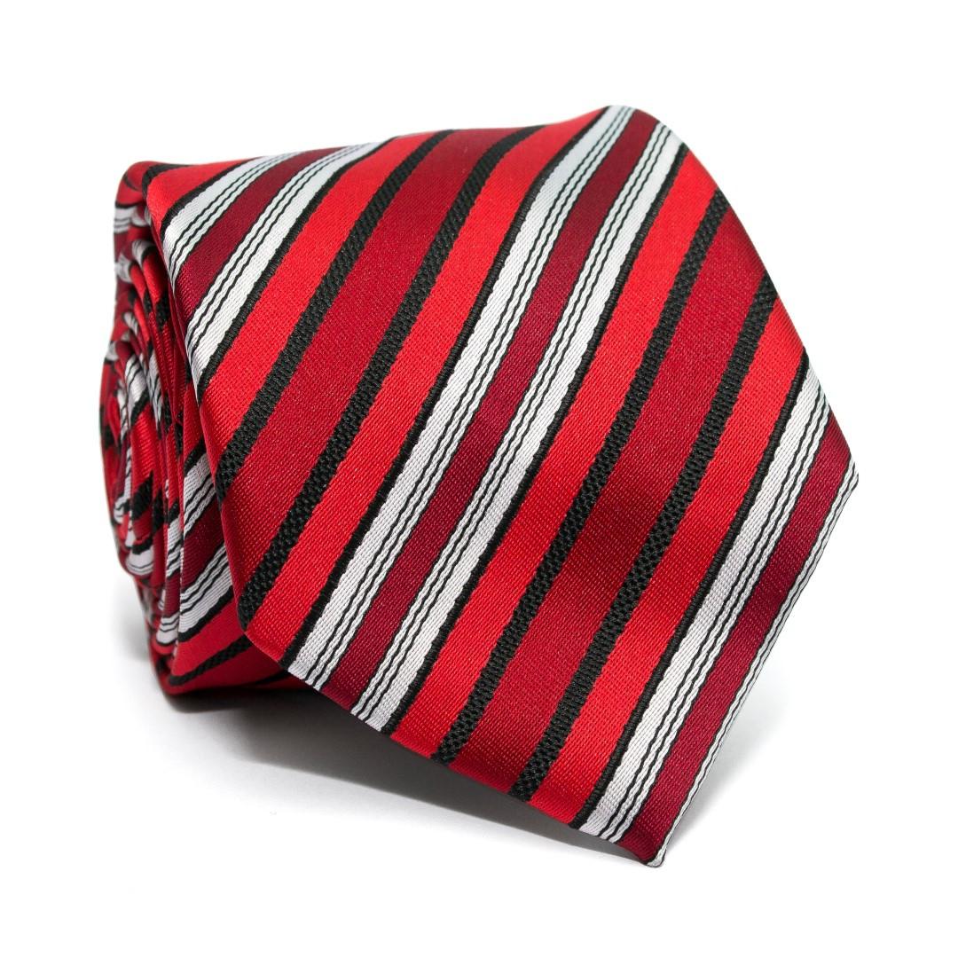 Краватка C&A чоловіча червона в смужку CA-4088