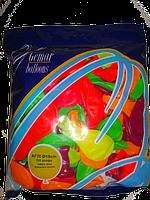 """Ассорти неон 7"""" (19 см). Воздушные шарики из латекса оптом."""