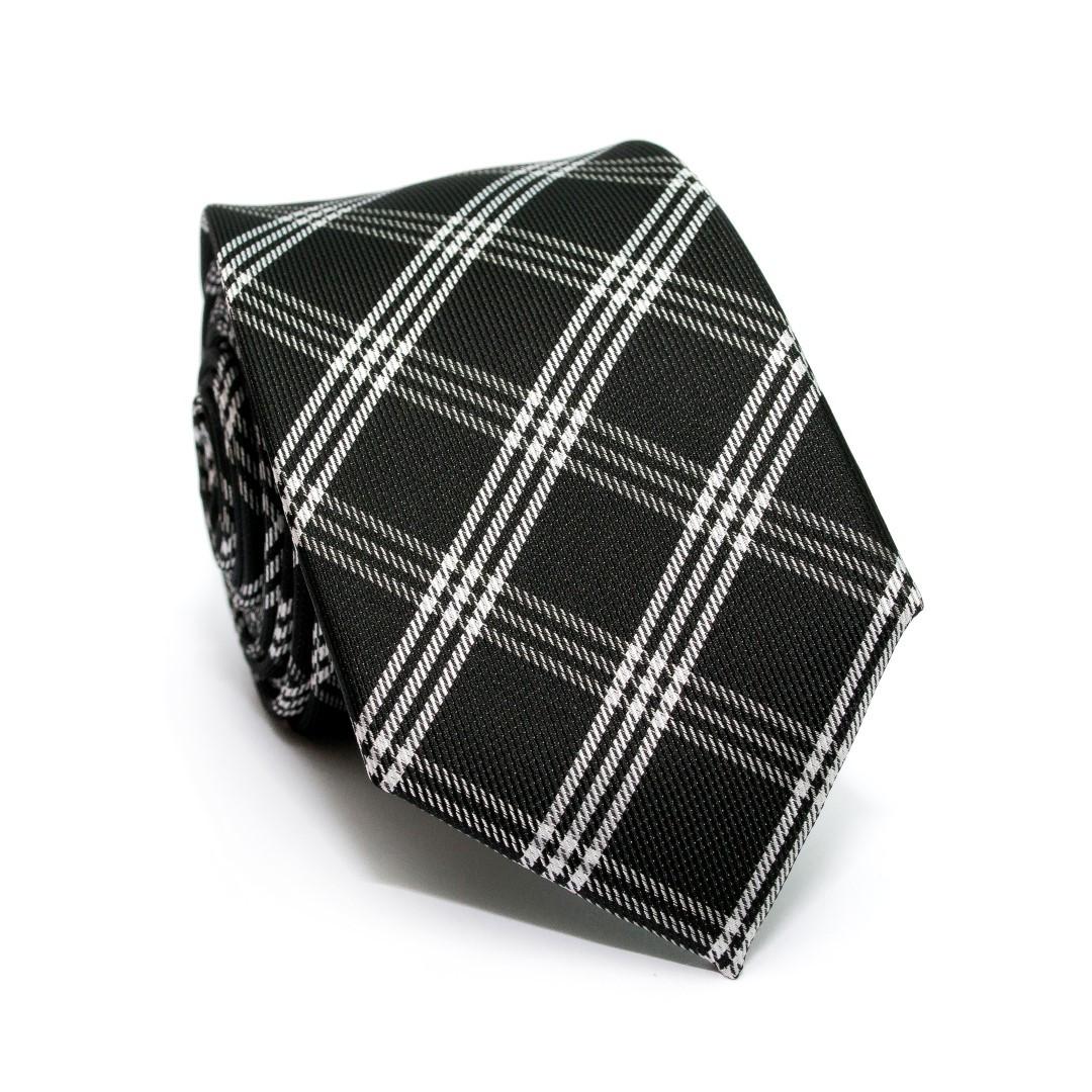 Краватка C&A чоловіча чорна в клітку CA-4126