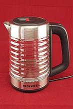 Электрочайник стеклянный А-Плюс, надежный электрический чайник, техника для кухни 2 L