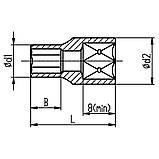 """Насадка шестигранная короткая 1/4"""" 7мм CrV ULTRA (6060072), фото 2"""