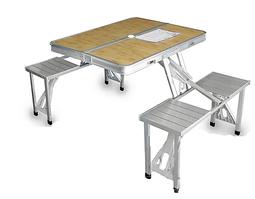 Стол туристический алюминиевый складной 4 места 1300х850х680 Table-002