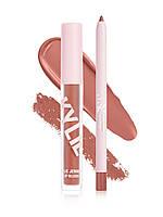 "LIP BLUSH KIT ""DO YOU BOO"" от Kylie Cosmetics набор жидкая матовая помада с карандашом"