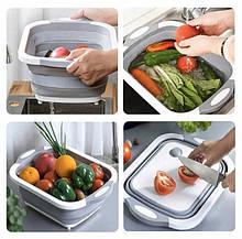 Кухонная Разделочная Доска для Мытья и Резки Овощей