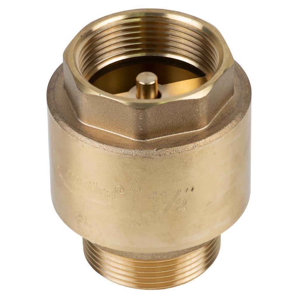"""Клапан обратный M1 1/2""""×F1 1/2"""" (латунь) euro 680г AQUATICA (779659)"""