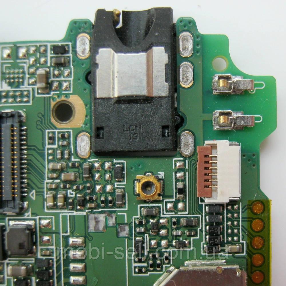 Lenovo A5000 коннектор HandsFree гарнитуры, наушников (разъем, гнездо) (запчасти, Б/У, разборка)