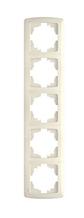 Рамка 5-а вертикальна кремова VIKO Carmen
