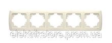 Рамка 5-а горизонтальна кремова VIKO Carmen