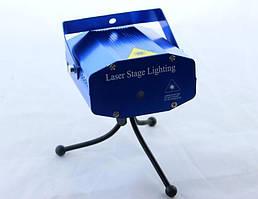 🔥 Диско LASER 6in1, Лазерный прожектор 6 в 1, Лазерный генератор, Светомузыка, Проекций рисунков, Лазерное шоу