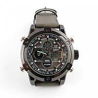 Кварцевые часы Amst watch AM3022 коричневые, противоударные антикоррозийные
