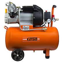 Компрессор V 2.5кВт 435л/мин 8бар 50л (2 крана) GRAD (7043945)