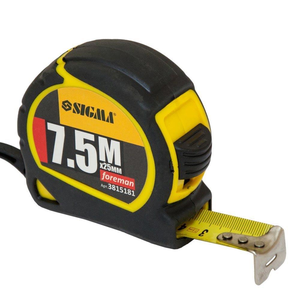 Рулетка Foreman 7.5м×25мм SIGMA (3815181)