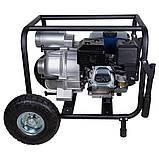 Мотопомпа 7.5л.с. Hmax 26м Qmax 60м³/ч (4-х тактный) для грязной воды WETRON (772557), фото 6