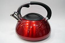 Чайник газовый со свистком 3л с нержавеющей стали для газовой плиты и индукционной Giakoma G-3303