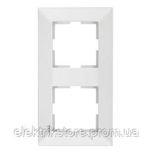 Рамка 2-а вертикальна біла VIKO Meridian